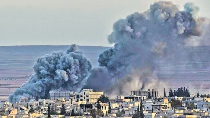 The US-led air campaign against the Islamic State jihadist group in Syria began on September 23, 2014.- AFP