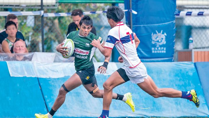 Sri Lankas Naveen Henakankamange in action against Chinese Taipei    Picture by Sameera Peiris