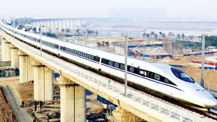A Chinese Bullet Train.