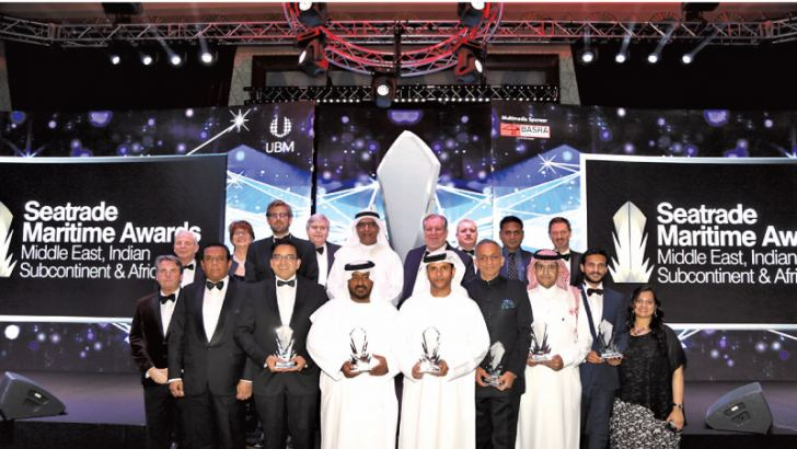 Winners from Seatrade Maritime Awards Middle East, Indian Subcontinent and Africa 2016.