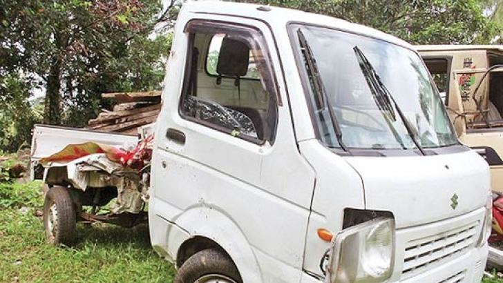 The lorry involved in the fatal accident