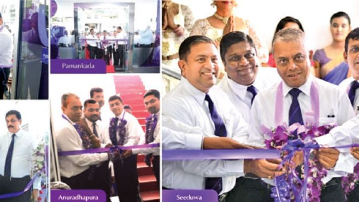 Officials of Softlogic at the opening of the branches.