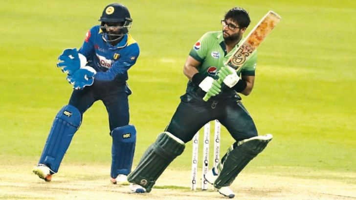 Pakistan's debutant opener Imam-ul-Haq gets runs on the leg side during his century.