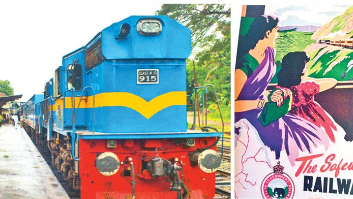 Yal Devi Express Train from Colombo to Jaffna.-Railway Advertisement from the Golden Era.