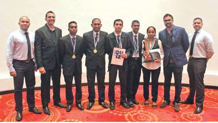 The winning team - Heritance Kandalama with the Aitken Spence Hotels Learning  and Development team