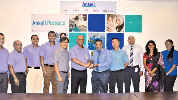 Ruwan Gunawardena, Manager – EHS, Ansell Lanka; Dayan Gunawardena, Manager – Utility, GE & MT; Artha Salgado, Senior Manager – EHS & Risk Management (Sri Lanka & India), Ansell Lanka; Hasith Prematillake – Country Director/General Manager, Ansell Lanka; Raymond See, Vice President – Global Operations HR, Ansell Limited; Darryl Nazareth, Senior Vice President – Operations and R&D, Ansell;  Sanith de Silva Wijeyeratne – Director/CEO, CCC; Kanishka Jayasinghe, Manager – Business Development, Client Relations &