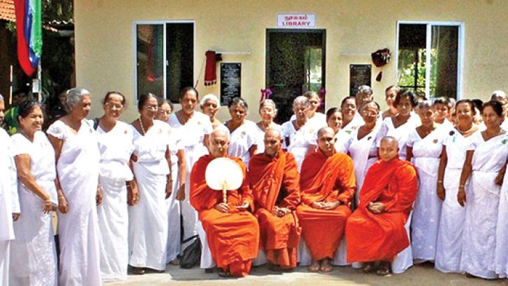 Most Ven. Thirikunamale Ananda Thera after opening the new library.