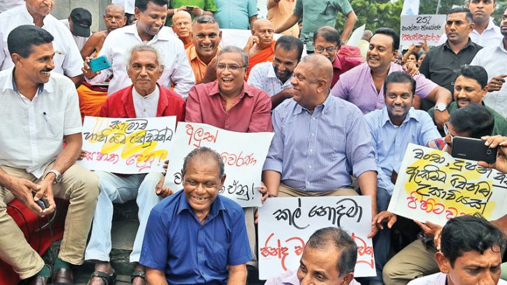 Minister Mangala Samaraweera, M. A. Sumanthiran and Wikramabahu Karunarathne demand support for promised constitutional reforms.