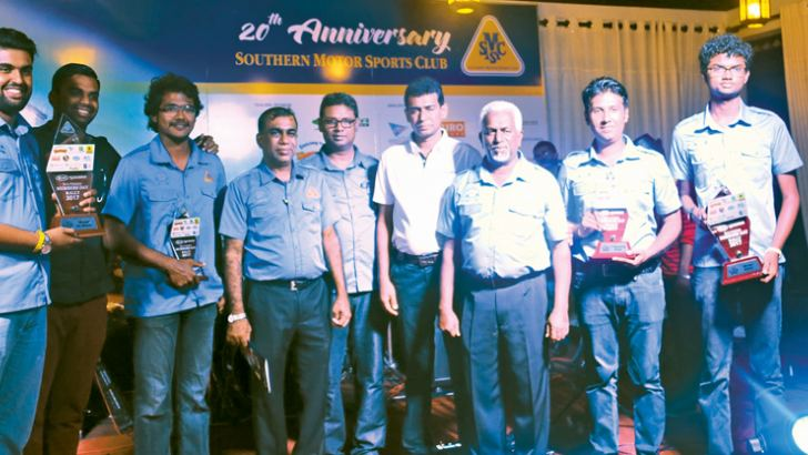 Joint winners of SMSC's 20th Anniversary Members' Day Rally with their awards
