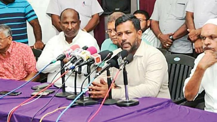 Minister Bathiudeen at the meeting