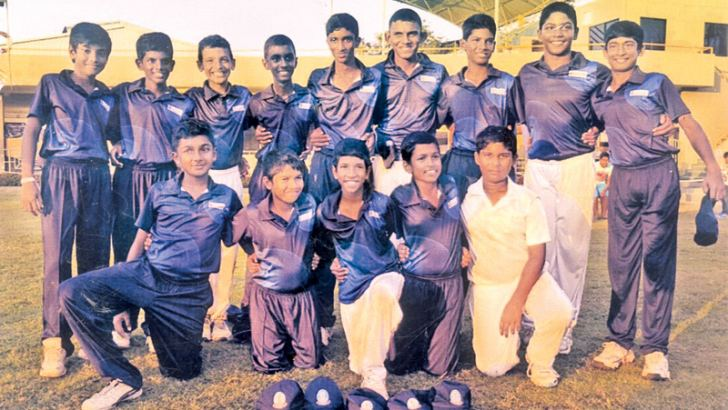 Under 13 division three cricket team of Lyceum International School Nugegoda.  (Picture by Dilwin Mendis Moratuwa Sports Special Correspondent)