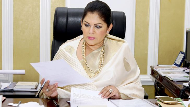 Deputy Chief of Staff at the Prime Minister's Office, Rosy Senanayake. Pictures by Hirantha Gunathilaka