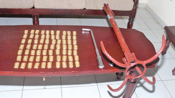 Gold biscuits which the Navy seized