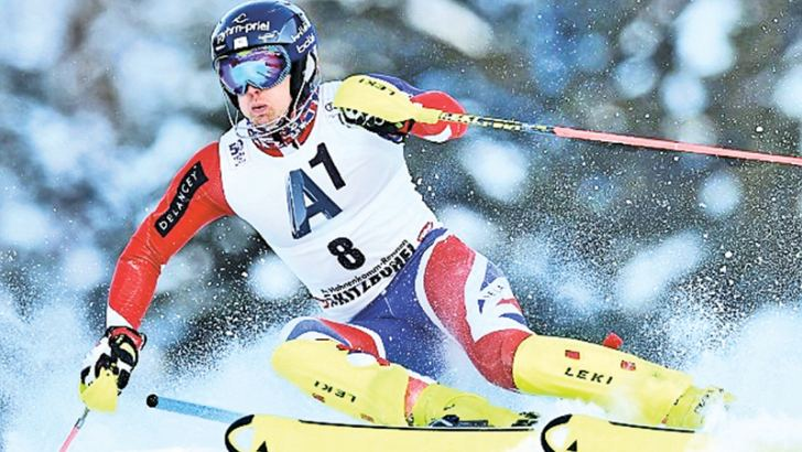 Dave Ryding claimed Britain's first World Cup alpine medal since 1981 with silver in the slalom
