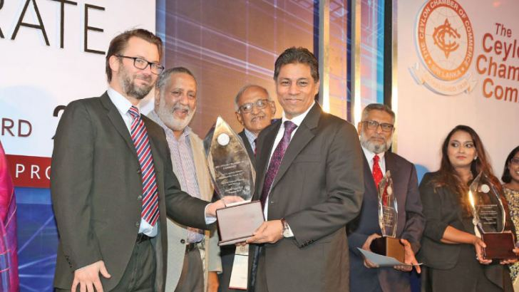 A.S. Ibrahim CEO/GM, receiving the award as one of the 'Best Ten Corporate Citizens' at the Best Corporate Citizen Sustainability Awards - Nov. 2017