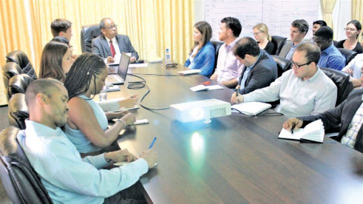 Ministry officials engage in the knowledge sharing session with University of Virginia students