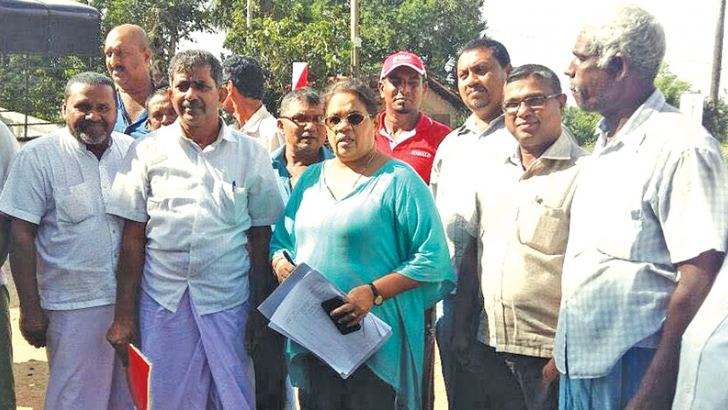 Industry and Commerce Ministry Additional Secretary Kusum Piyaratna with others during the inspection. Picture by I. L. M. RIZAN, Addalaichenai Central Corr.