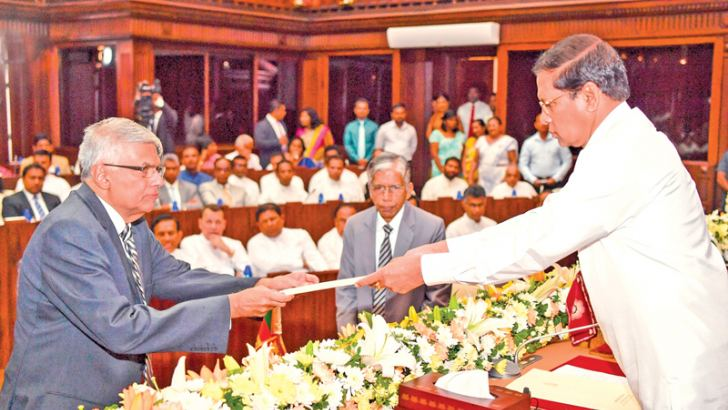 Prime Minister Ranil Wickremesinghe - Law and Order Minister.