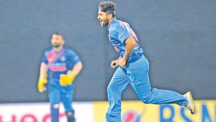 Man of the Match Sharad Thakur making up for the loss of seniors in the Indian line- up.