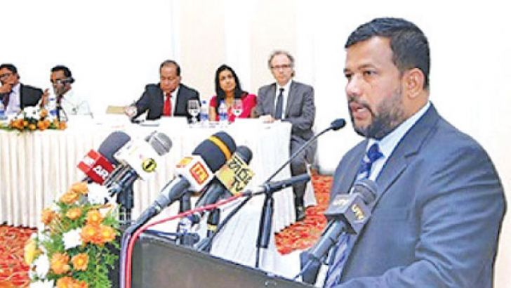 Minister Bathiudeen addresses CAA's launch event