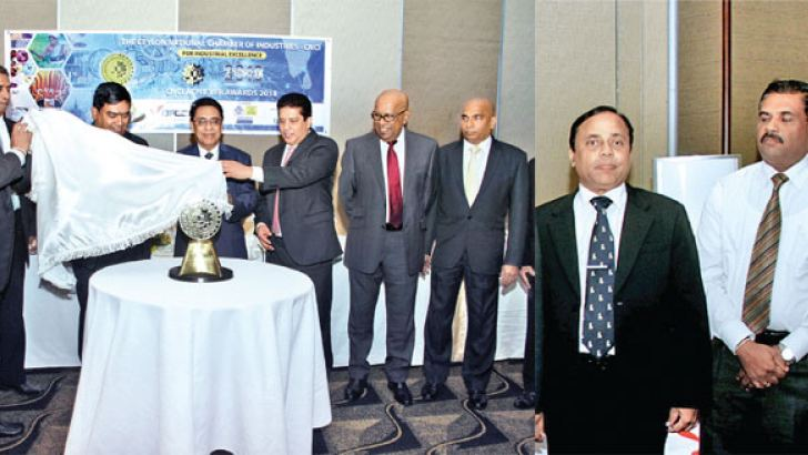 Key officials of the CNCI, and sponsors unveiling the 2018 CNCI 2018 Gold trophy Picture by Saliya Rupasinghe