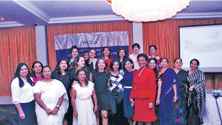 WISTA Sri Lanka members at the event. Pictures by Sulochana Gamage