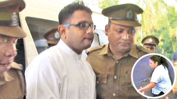 Southern Provincial Council Member M.K. Kasun, in remand over an  alleged assault case attended the Southern Provincial  Council meeting escorted by prison guards yesterday.  Picture by Dikwella Thilakaratne.
