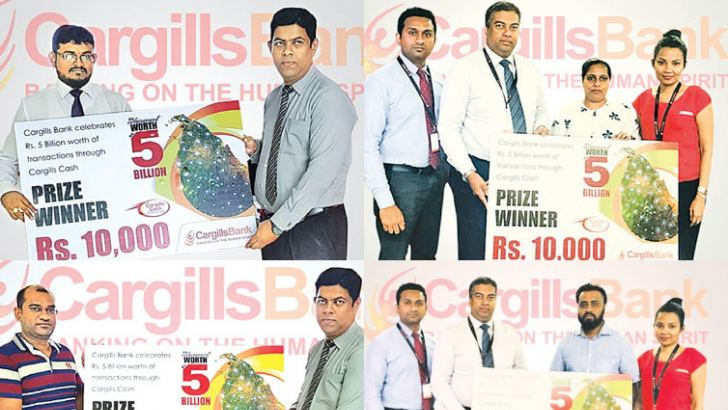 Buddhika Perera – Head of Retail Banking,. Pragalath Pancharatnam – Area Manager North,  Renuka Hettiarachchi – Marketing Manager and Pramuditha Kalani – Assistant Manager Alternate Channels, gave away the prizes.