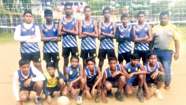 Under - 20 (boys) Volleyball Champions Horana Divisional Level Champions Vidyarathana University College. (Picture by Kalutara Central Special Corr. H L Sunil Shantha)