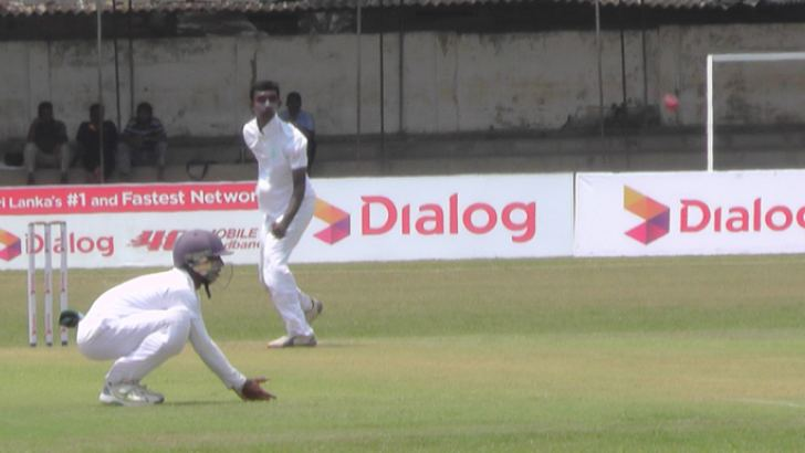 Shashika Dulshan who took seven wickets for 56 in action yesterday.