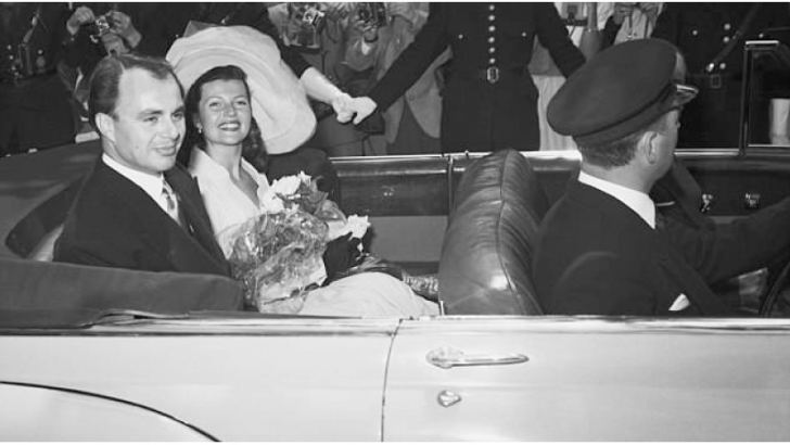 The two tied the knot near Cannes, France, on May 27, 1949. They are pictured leaving the Vallauris Town Hall after the ceremony