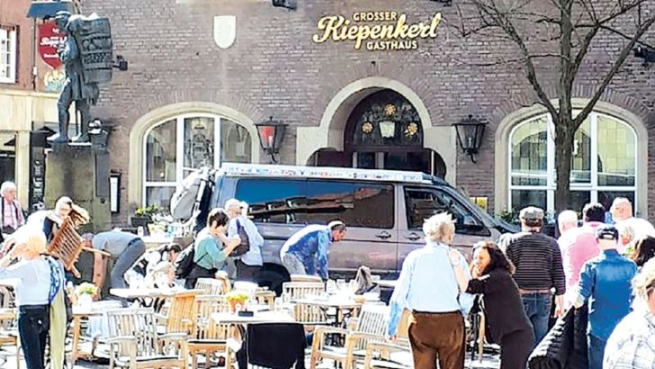 The Saturday afternoon attack took place as locals and tourists had been enjoying a sunny spring day.