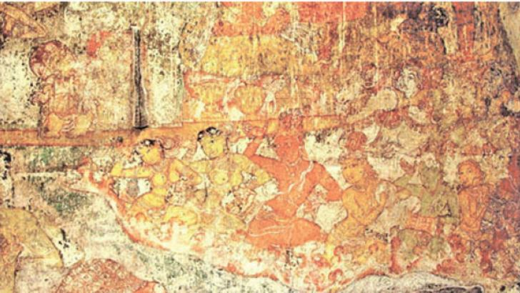 Tanjore dance painting.