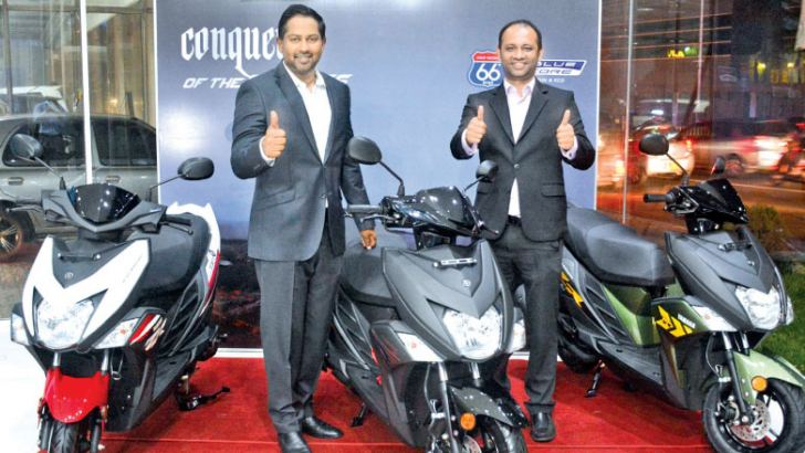 Director Passenger Vehicles, Yohann De Zoysa and Head of Sales YAMAHA,  Zahran Ziyawudeen at the event.