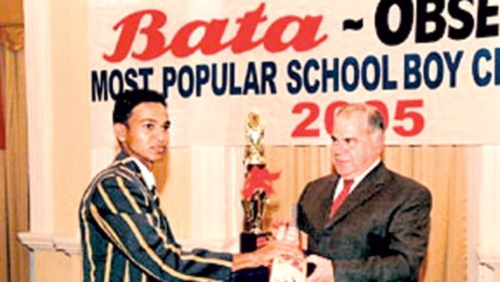 Lahiru Peiris of St. Peter's College, won the Most Popular Schoolboy Cricketer Award when Bata sponsored the event in 2005.