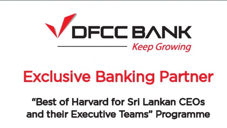 Exclusive Banking Partner and Platinum sponsor for 'Best of Harvard for Sri Lankan CEOs and their Executive Teams' programme