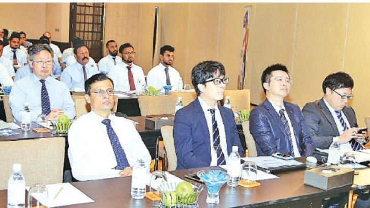 Srilal Sahabandu, GM of CECB and the Japanese experts with guests at the event