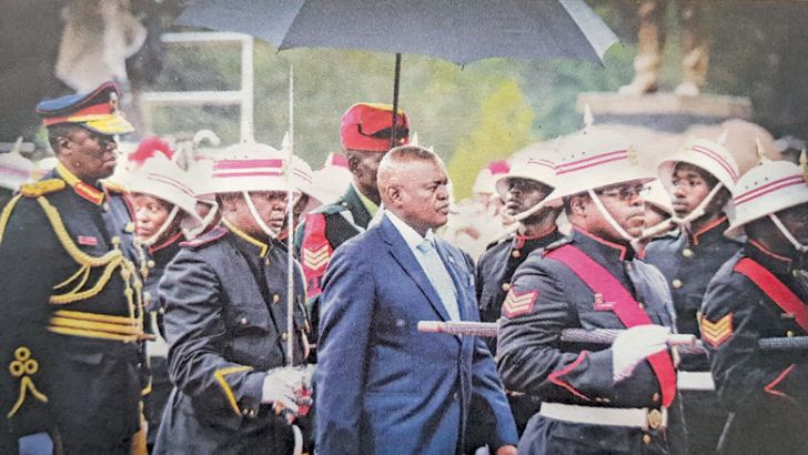 President Mokgweetsi Masisi being escorted for the signing in venue.