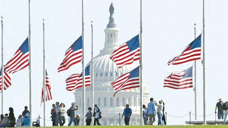In honour of Bush's life, President Donald Trump ordered that the US flag be flown at half-staff until sundown on the day she is buried.
