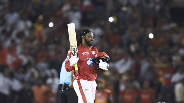 Gayle's stunning performance with Kings XI Punjab handed Hyderabad their first defeat of the IPL season. AFP