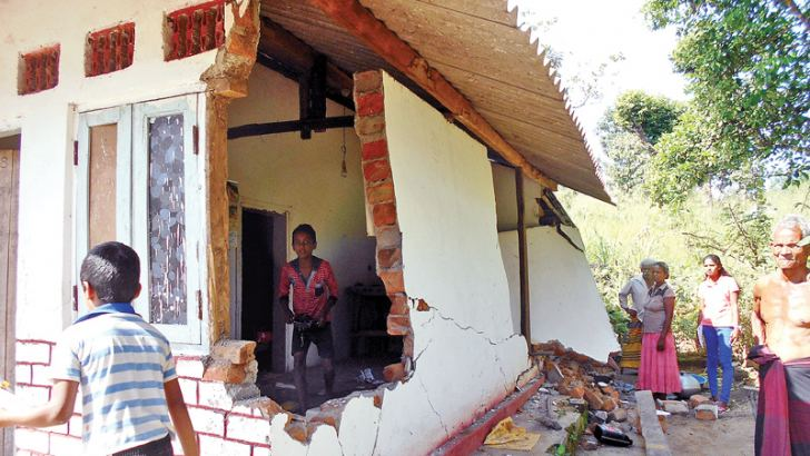 A house destroyed during a wild elephant attack. Picture by Navaratna Bandara, Mahaweli Systems Group Corr.