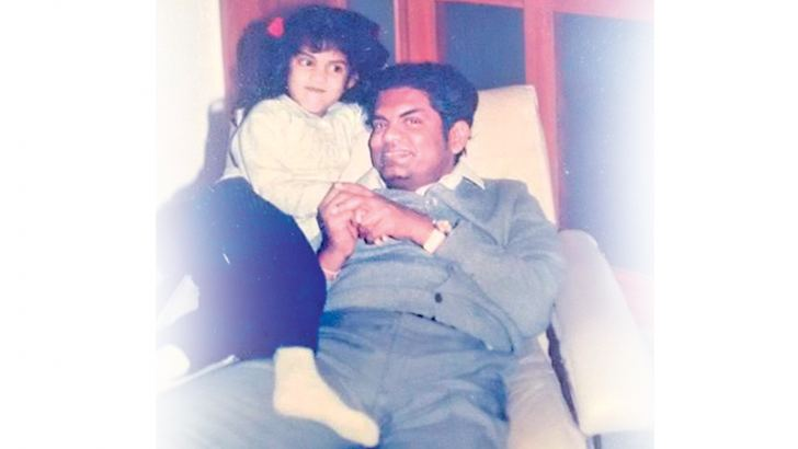 Serela with her father.