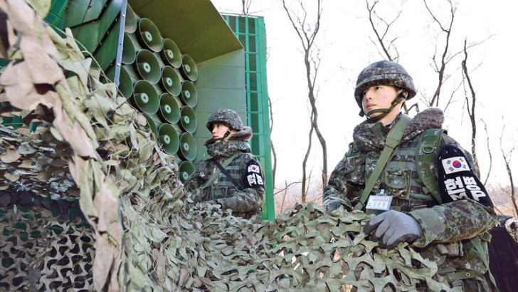 South Korea says it will stop blasting K-Pop, propaganda along border with the North.- AFP