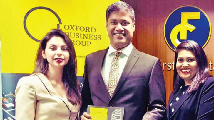 Country Director, Oxford Business Group,  Andrea Tsiachtsiri, Director / CEO First Capital Holdings Dilshan Wirasekara and  Nisansala Munasinghe Manager Branding and Marketing Services First Capital Holding .