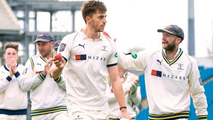 Ben Coad takes the plaudits after taking ten wickets in Yorkshire's win over Nottinghamshire at Headingley.