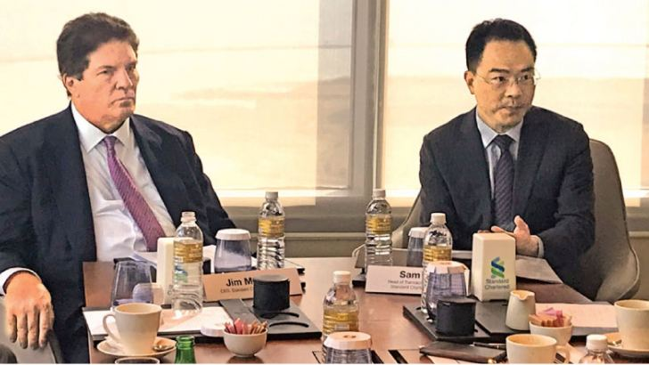 Standard Chartered Bank CEO, Jim McCabe with Head of Banking Standard Chartered Bank (China) Sam Xu