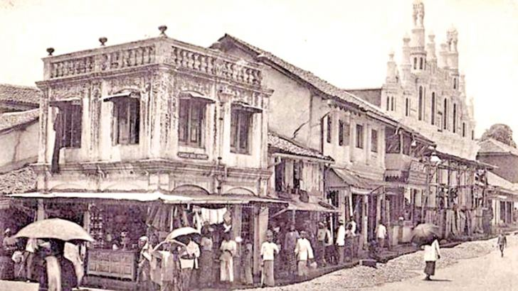 Castle Hill Street, Kandy, in 1915.