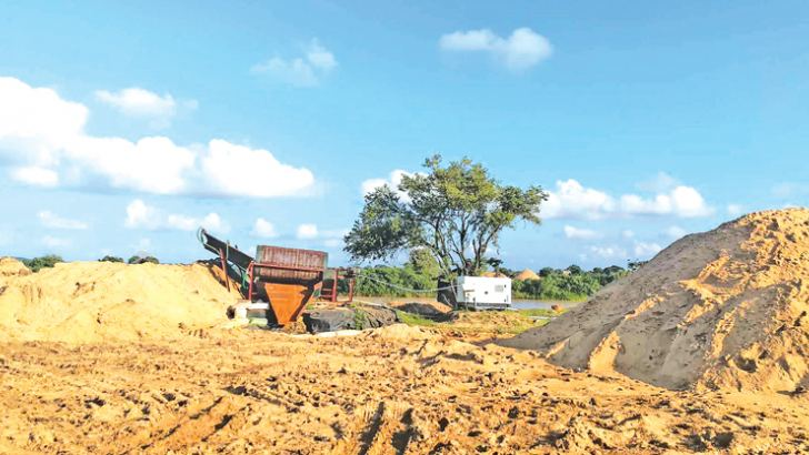 The Yan Oya reservoir excavation site. Picture by Nimal Wijesinghe, Anuradhapura Additional District Group Corr.