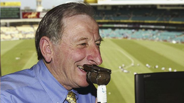 Bill Lawry commentating on Channel Nine