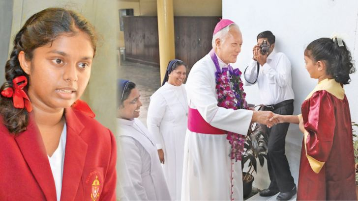 St Lawrence Convent Head Girl  Sheneli Peiris.  Pictures by Sarath Peiris